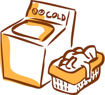 Wash clothes in cold water