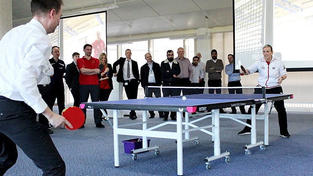 Ping Pong At Work Space
